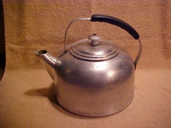 Vintage Mirro Aluminum 5 Quart 1455M Teapot Tea Kettle Made in USA