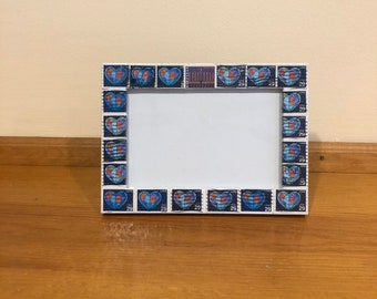 hanukkah postage stamp frame holds 4x6 photo