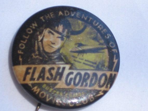 Flash Gordon 1930's Original Pin Back Button