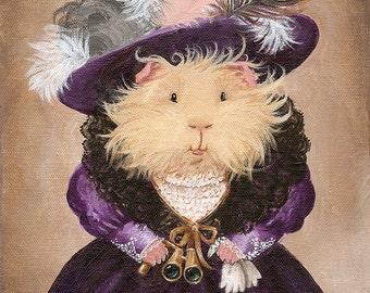 Ingrid Pumpernickel 8x10 - Victorian Guinea Pig Portrait Art Print