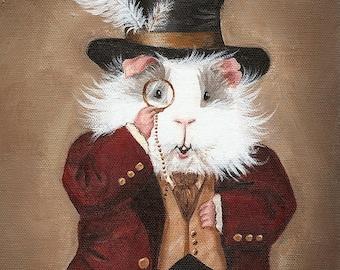 Simon Cranberry 8x10 - Victorian Guinea Pig Portrait Print