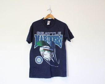 06724f6df Kids Vintage Blue Seattle Mariners Baseball T Shirt