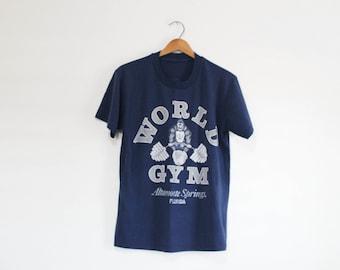 7cac8fc7f Vintage World Gym Florida Lifting T Shirt