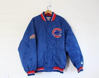 f492cfdf44cfb Vintage Blue Chicago Illinois Cubs Baseball MLB Starter Jacket Coat