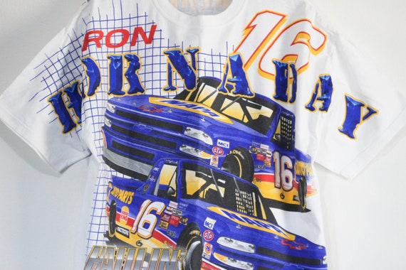 Vintage Ron Hornaday Nascar T Shirt - image 2