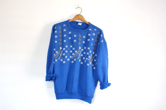 Vintage Skiing Sweatshirt Large