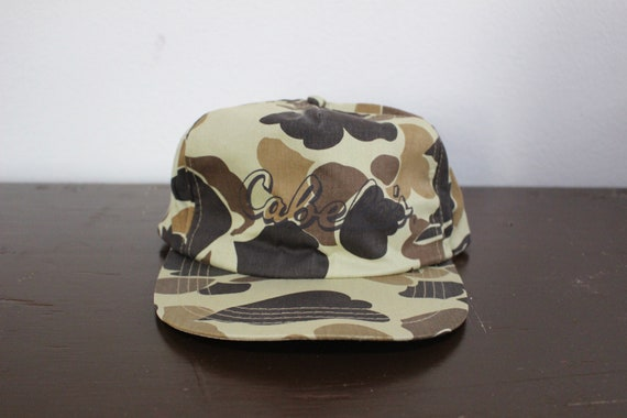 Vintage Cabela's Camo Snapback Hat