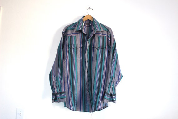 Vintage Panhandle Slim Southwestern Snap Button Up