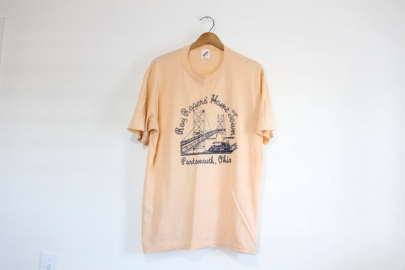 Vintage Roy Rogers Home Town Portsmouth Ohio T Shi
