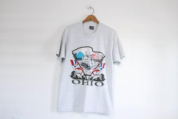 Vintage Ohio Tourist T Shirt Large