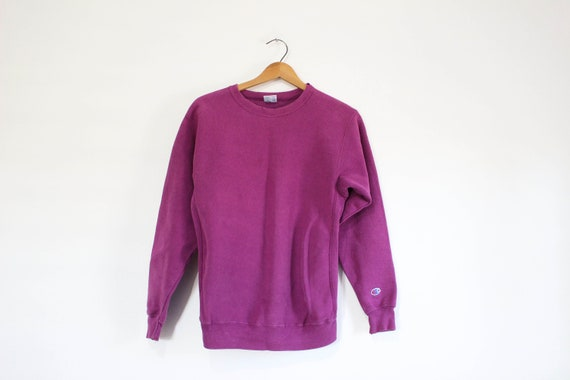 Vintage Kids Purple Champion Reverse Weave Sweats… - image 1