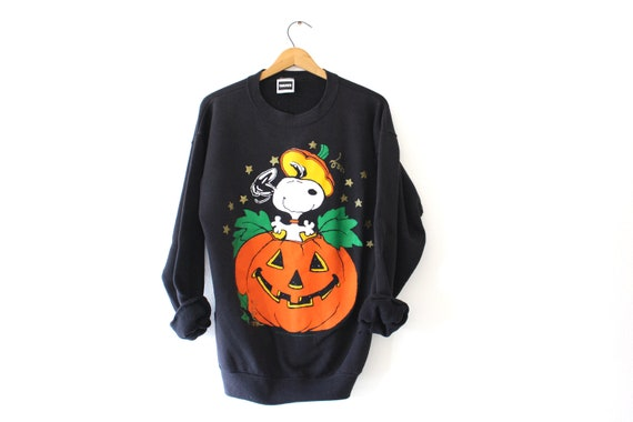 Vintage Snoopy Halloween Sweatshirt XL