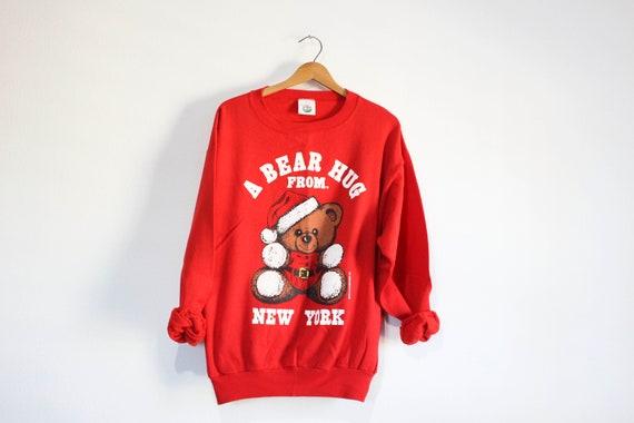 Vintage Hug Me in New York Teddy Bear Sweatshirt
