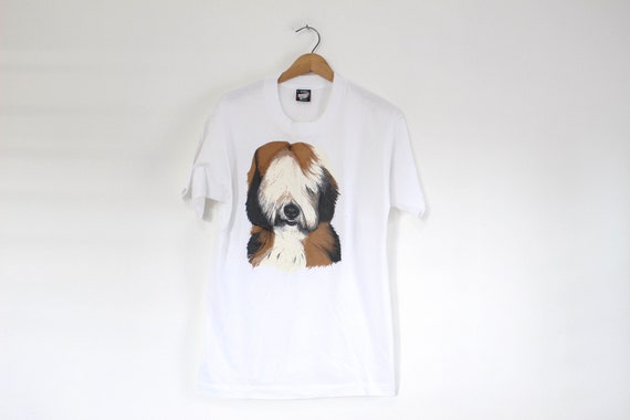 Vintage Bearded Collie Dog T Shirt