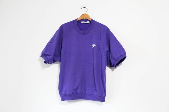 Vintage Purple Nike Swoosh Grey Tag Sweatshirt by Etsy