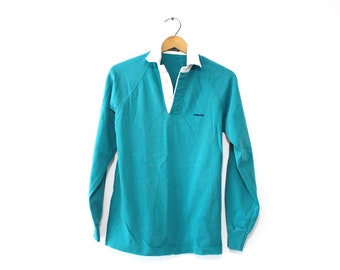Vintage Patagonia Climbing Rugby Polo Shirt Small