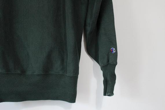 Vintage Green Champion Script Reverse Weave Sweat… - image 4