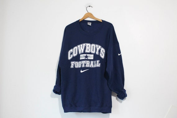 buy popular f7a5e f46fd Vintage Dallas Cowboys Football Nike Sweatshirt