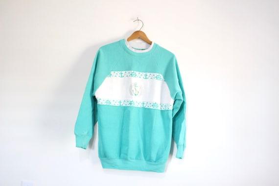 Vintage Nautical Anchor Sweatshirt Medium