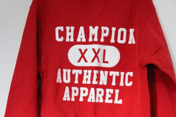 Vintage Red Champion Athletic Apparel Sweatshirt - image 2