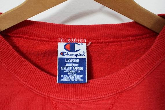 Vintage Red Champion Athletic Apparel Sweatshirt - image 4