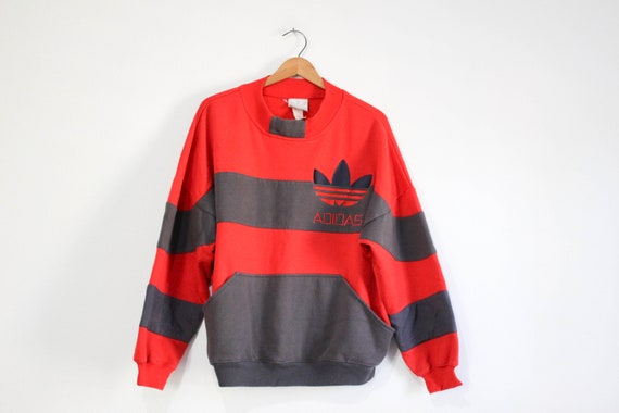 Vintage Red Adidas Sweatshirt