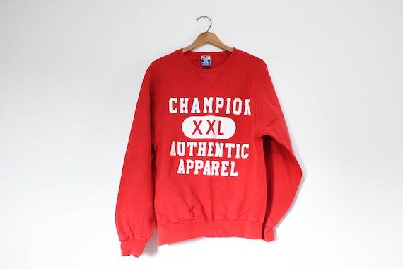 Vintage Red Champion Athletic Apparel Sweatshirt - image 1
