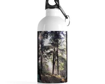 Cascadian Forest Stainless Steel Water Bottle