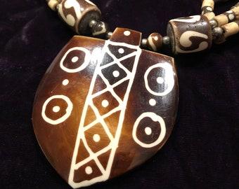 vintage tribal-style Tibetan multi-strand necklace