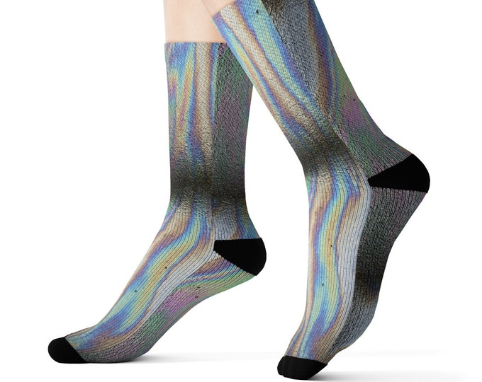 Oil Slick Printed Socks