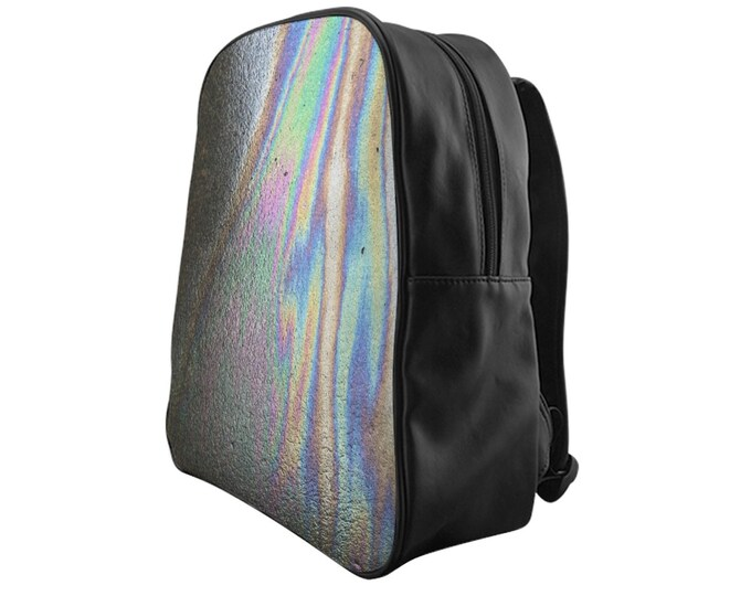 Oil Slick printed backpack