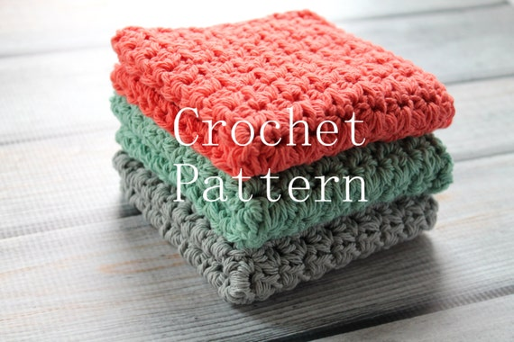 Crochet Pattern Crochet Washcloth Pattern Crochet Dishcloth