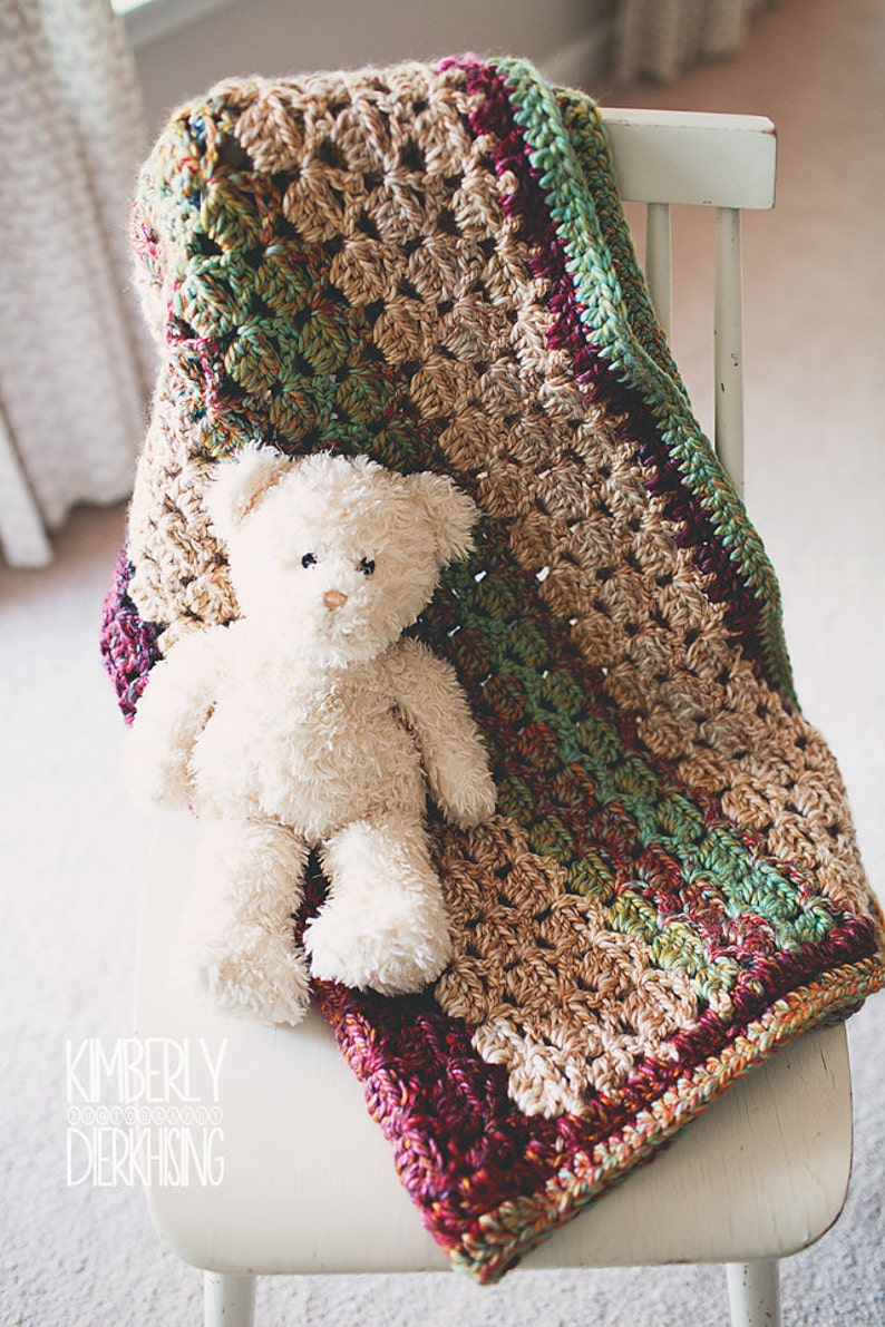 Pdf Crochet Pattern Medley Blanket Afghan Boy Girl Easy Etsy