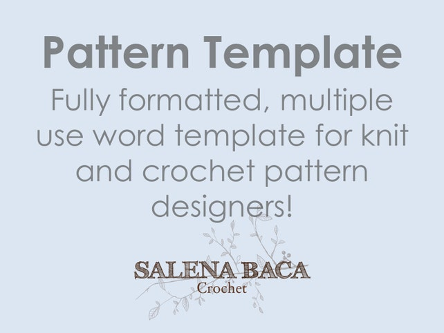 Pattern Template Document with Cheat Sheet Fully Formatted for   Etsy