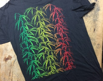 Marijuana vintage all over print shirt. Made in UK. Size XL.