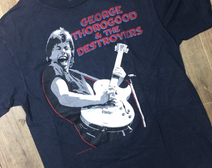 George Thorogood  and the Destroyers 1984 Maverick tour shirt size XL. Screen stars nade in USA
