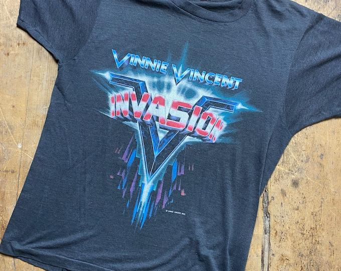 Vinny Vincent invasion vintage screen stars paper tag concert shirt