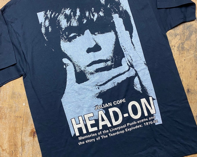 Julian Cope Head on autobiography vintage tee shirt made in Ireland