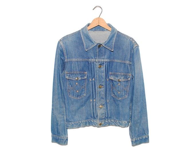Vintage Old Kentucky Second Model Blue Denim Jean Jacket Made in USA - Medium (OS-DJ-6)