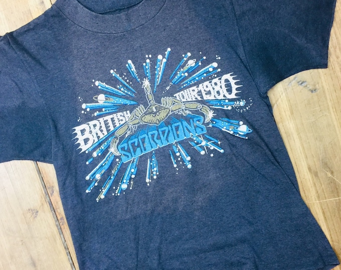 Scorpions Vintage 80's tour shirt. Made in the uk. Small