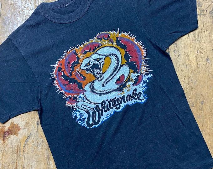 Whitesnake vintage English made 1979's tour concert tee shirt