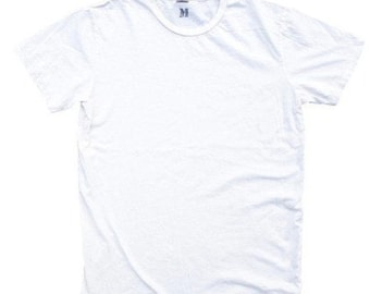 QMC Roughed Up Tee - 100% Cotton Jersey T-Shirt Blow Out White