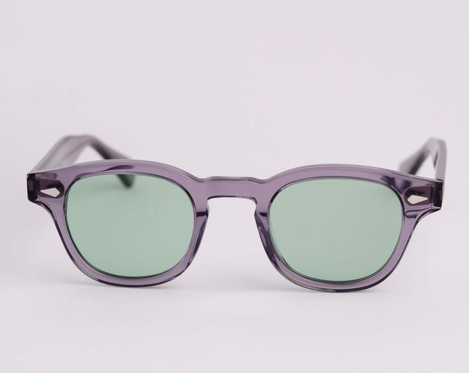 New York Irish Causeway Glasses Grey with Green G24 lenses Large