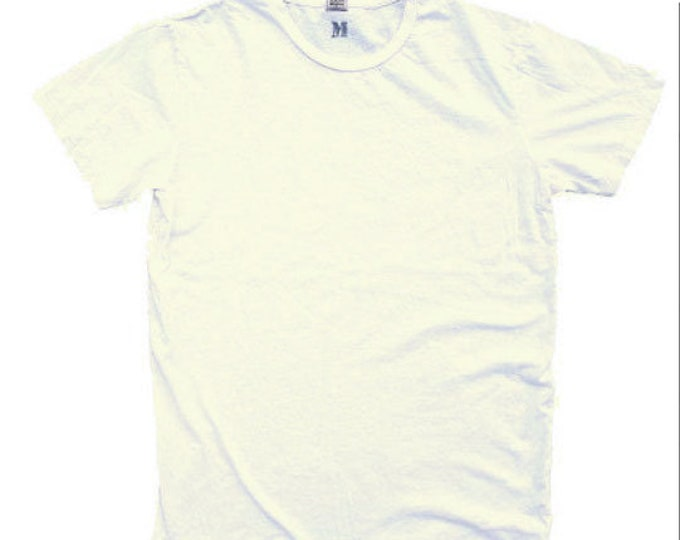 QMC Roughed Up Tee - 100% Cotton Jersey T-Shirt Vintage White