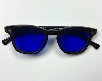 Vintage Deadstock American Optical Safety Glasses - Black & Blue