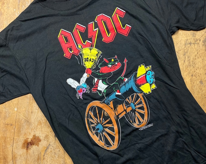 Vintage AC/DC 1980's shirt made in USA.