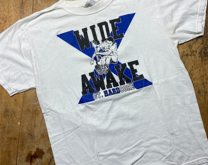 Wide Awake Vintage made in USA Fruit of the Loom CTHC Connecticut hardcore tee shirt