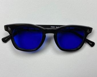 American Optical  Black Frame and Blue Lens, Vintage marked down 20.00usd.