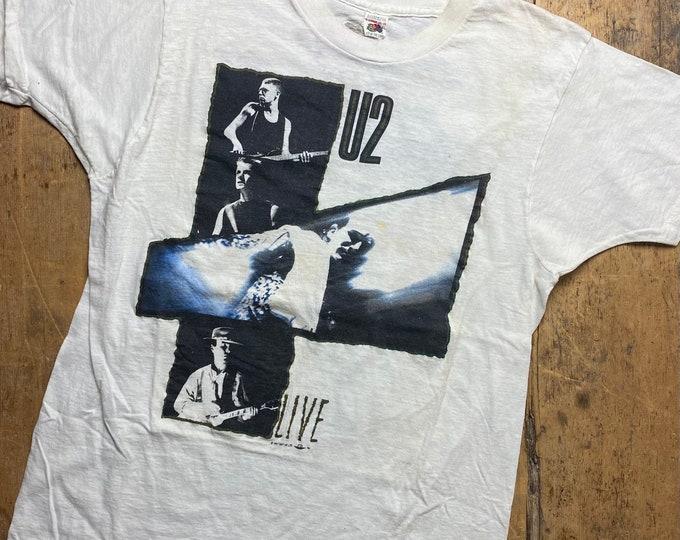 U2 fruit of the loom Joshua Tree tour shirt made in USA