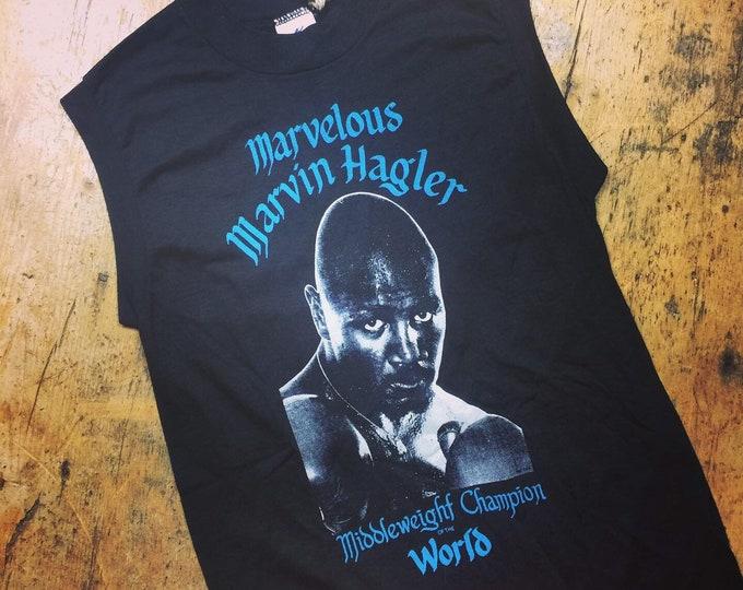 Marvellous Marvin Hagler  vintage muscle tee medium